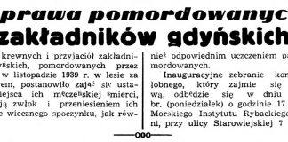 Sprawa pomordowanych zakładników gdyńskich // Dziennik Bałtycki. - 1945, nr 55, s. 2