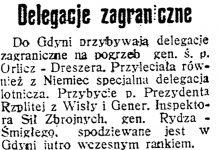Delegacje zagraniczne // Dzień Dobry. - 1936, nr 200, s. 3