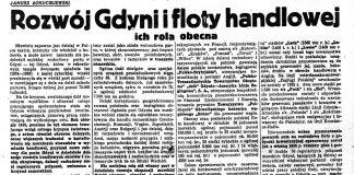 Rozwój Gdyni i floty handlowej ich rola obecna / Janusz Łokuciejewski // Nadzwyczajny Kurjer Morski. - 1937, nr 1, s. 2