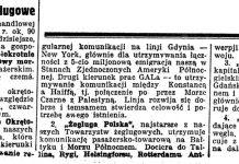 Polskie Towarzystwo Żeglugowe / R. // Nadzwyczajny Kurjer Morski. - 1937, nr 1, s. 6