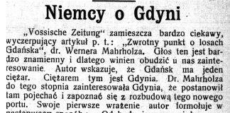 Niemcy o Gdyni // Pomorzanin. - 1928, nr 101, s. 3