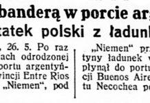 Pod polską banderą w porcie argentyńskim pierwszy statek polski z ładunkiem węgla // Dzień Dobry. - 1931, nr 142, s. 2