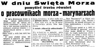 W dniu Święta Morza pomyśleć trzeba również o pracownikach morza - marynarzach // Dzień Dobry. - 1933, nr 178, s. 6