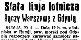 Stała linja lotnicza łączy Warszawę z Gdynią // Dzień Dobry. - 1936, nr 110, s. 8