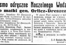 Pismo odręczne Naczelnego Wodza do matki gen. Orlicz-Dreszera / (-) Śmigły-Rydz // Dzień Dobry. - 1936, nr 198, s. 2