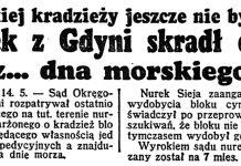 Nurek z Gdyni skradł cynk z ... dna morskiego. Takiej kradzieży jeszcze nie było // Dzień Dory. - 1938, nr 133, s. 1