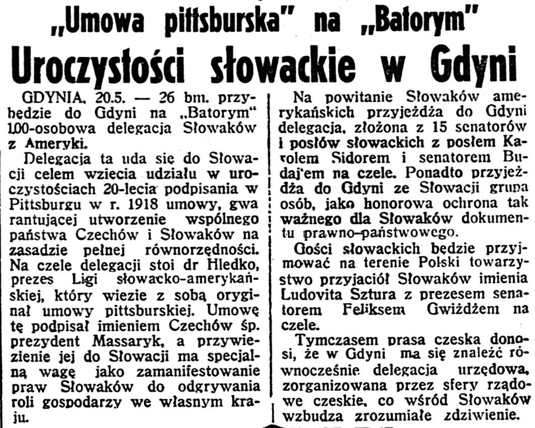Uroczystości słowackie w Gdyni.