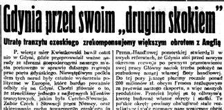 """Gdynia przed swoim """"drugim skokiem"""". Utratę tranzytu czeskiego zrekompensujemy większym obrotem z Anglią Dziennik Poznański. - 1939, nr 86, s. 6"""