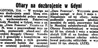 Ofiary na dozbrojenie Gdyni / (ATE) // Gazeta Polska. - 1939, nr 102, s. 7
