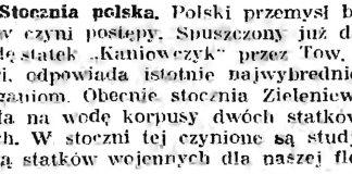 Stocznia polska // Gazeta Gdańska. - 1926, nr 140, s. 5