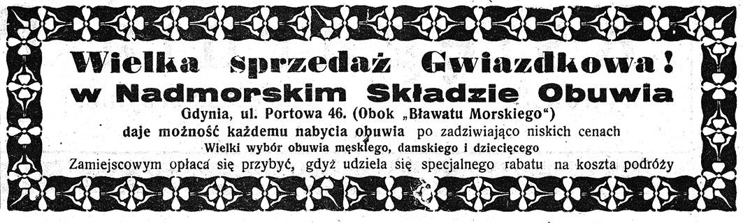 Wielka sprzedaż Gwiazdkowa! w Nadmorskim Składzie Obuwia, Gdynia ul.Portowa 46 (obok