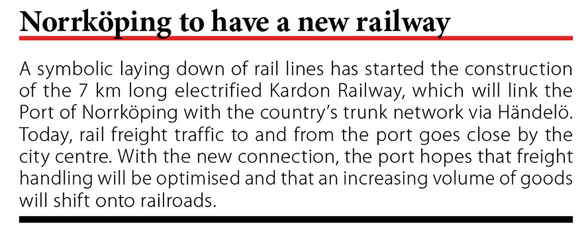 Norrkoping to have a new railway // Baltic Transport Journal. - 2017, nr 6, s. 10