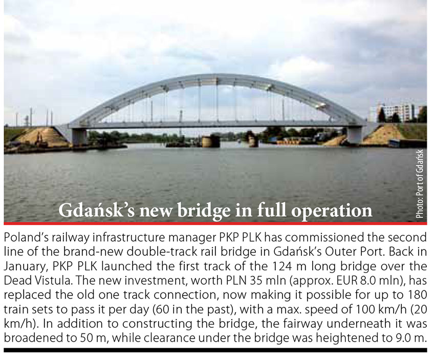Gdańsk's new bridge in full operation // Baltic Transport Journal. - 2016, nr 5, s. 10