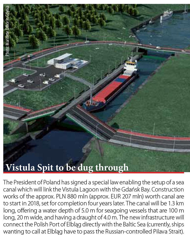 Vistula Spit to be dug through // Baltic Transport Journal. - 2017, nr 2, s. 10