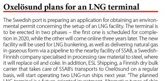 Oxelosund plans for an LNG terminal // Baltic Transport Journal. - 2017, nr 10, s. 10