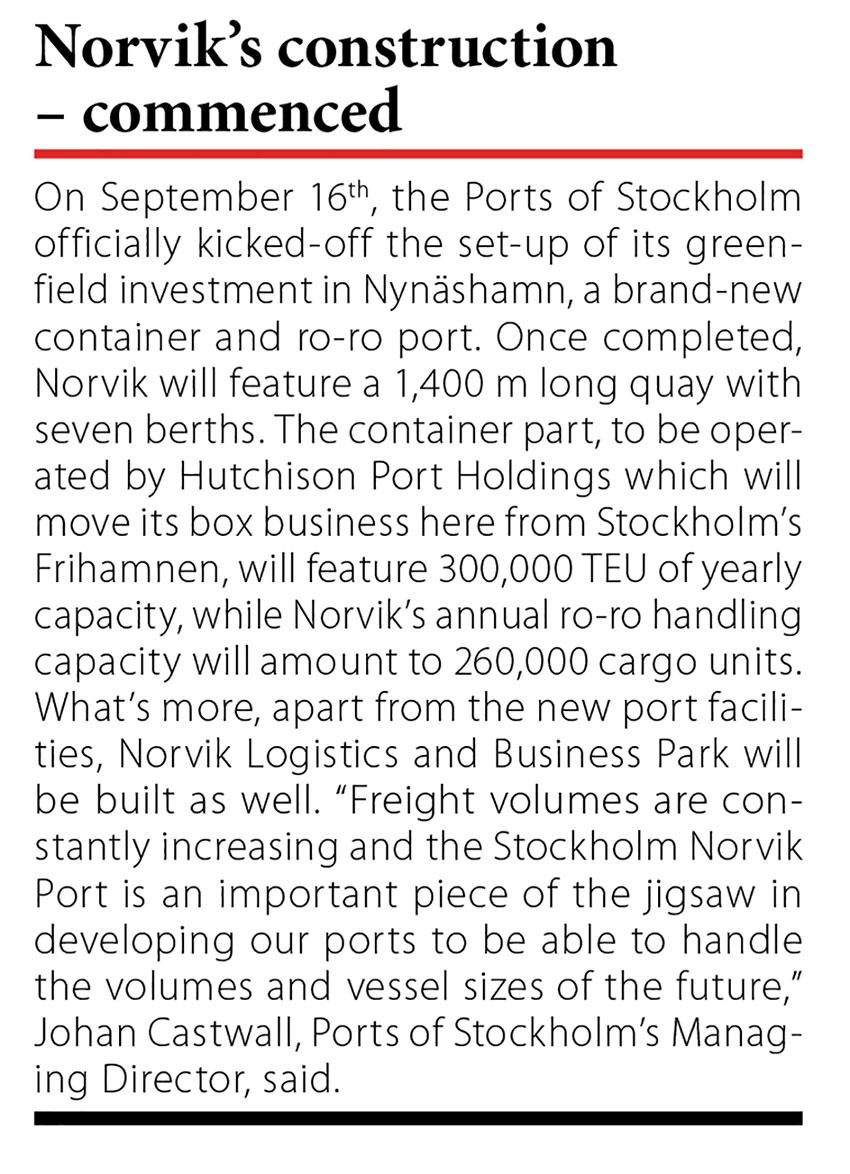 Novik's construction - commenced // Baltic Transport Journal. - 2016, nr 5, s. 11