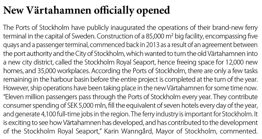 New Vartahamnen officially opened // Baltic Transport Journal. - 2016, nr 5, s. 12