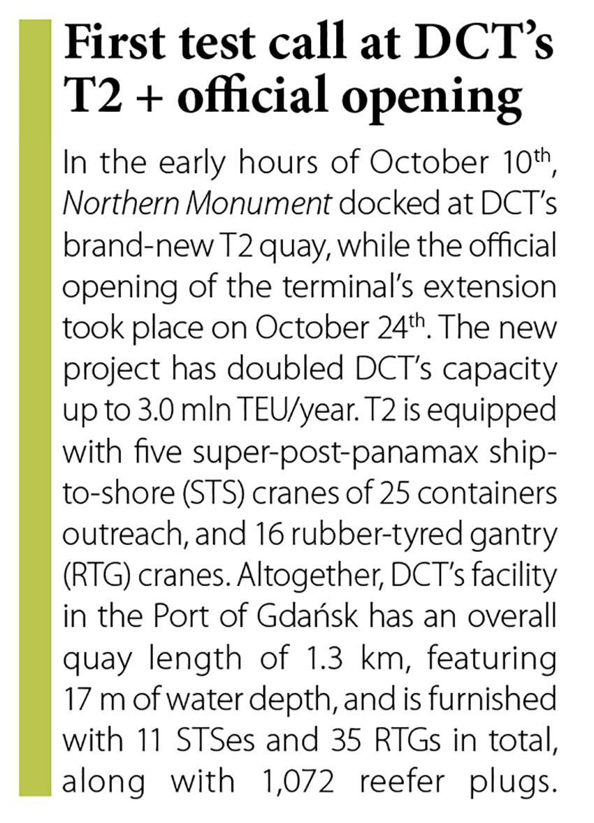 First test call at DCT's T2 + official opening // Baltic Transport Journal. - 2016, nr 5, s. 12