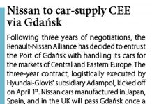 Nissan to car-supply CEE via Gdańsk // Baltic Transport Journal. - 2017, nr 2, s. 13