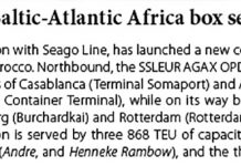 New direct Baltic-Atlantic Africa box service // Baltic Transport Journal. - 2017, nr 2, s. 13