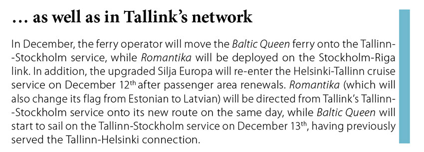 ... as well as in Tallink's network // Baltic Transport Journal. - 2016, nr 5, s. 13