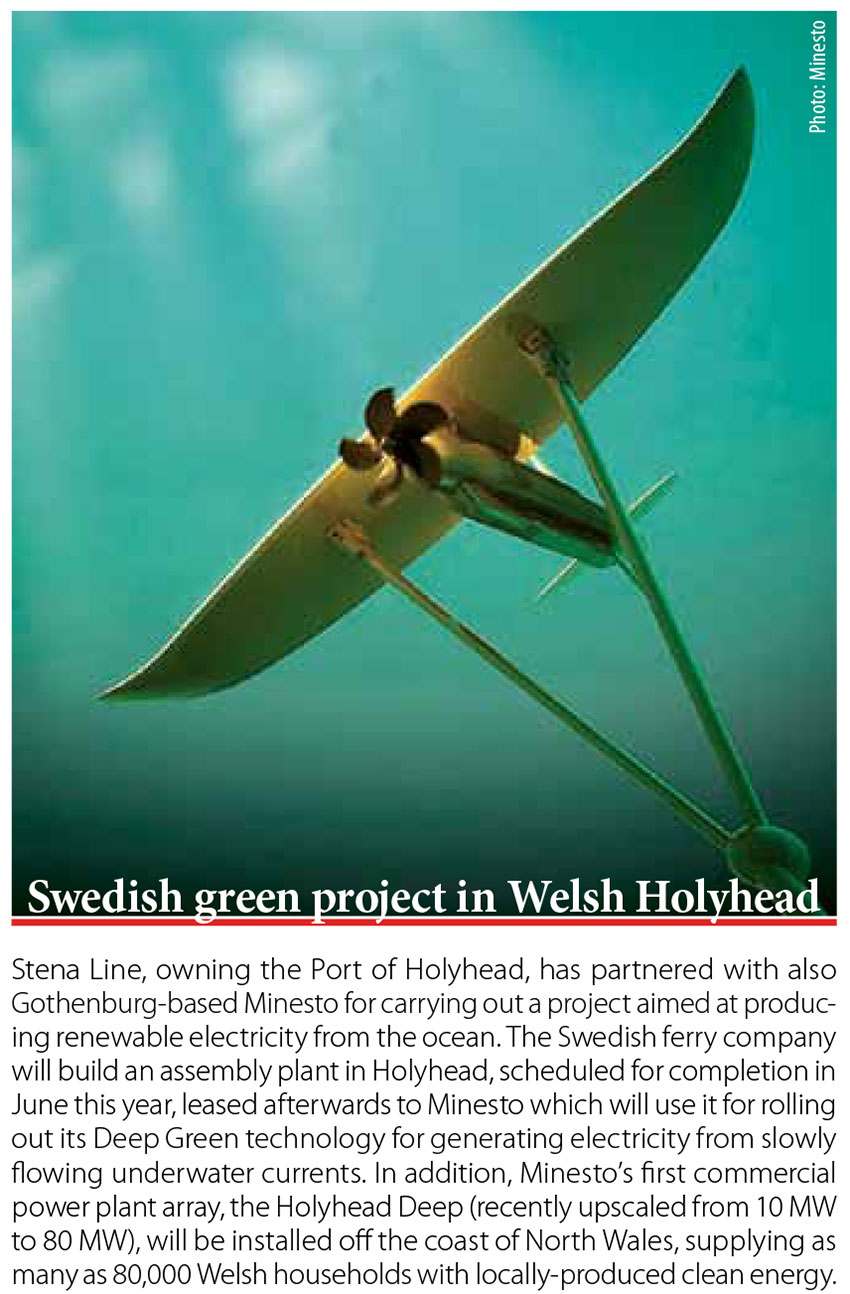 Swedish green project in Welsh Holyhead // Baltic Transport Journal. - 2017, nr 1, s. 10