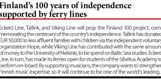 Finland's 100 years of independence supported by ferry lines // Baltic Transport Journal. - 2017, nr 1, s. 9