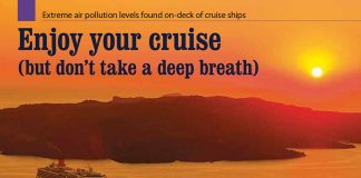 Enjoy your cruise (but don't take a deep breath). Extreme air pollution levels found on-deck of cruise ships / Daniel Rieger // Baltic Transport Journal. - 2917, nr 2, s. 62-63. - Il.