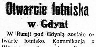 Otwarcie lotniska w Gdyni // Dzień Dobry. - 1935, nr 121, s. 7