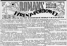 Romans syreny portowej / Tadeusz Denhoff // Dzień Dobry. - 1938, nr 24, s. 4. - Il.