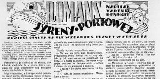 Romans syreny portowej / Tadeusz Denhoff // Dzień Dobry. - 1938, nr 32, s. 11. - Il.