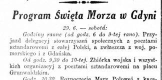 Program Święta Morza w Gdyni // Gazeta Poznańska. - 1935, nr 148, s. 5
