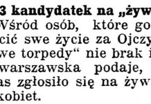 "13 kandydatek na ""żywe torpedy"" // Gazeta Kartuska. - 1939, nr 66, s. 3"