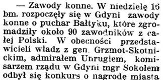 [Zawody konne] / Gazeta kartuska. - 1939, nr 68, s. 2