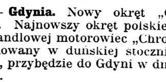 "[Nowy okręt ""Chrobry""] // Gazeta Kartuska. - 1939, nr 68, s. 2"