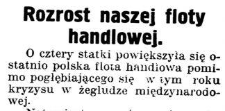 [Rozrost naszej floty handlowej] // Gazeta Kartuska. - 1939, nr 68, s. 3
