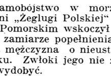 [Samobójstwo na morzu] / Gazeta Kartuska. - 1939, nr 73, s. 2