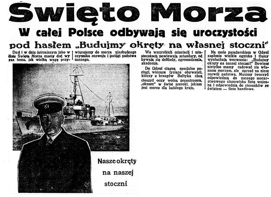 Święto Morza. W całej Polsce odbywają się uroczystości pod hasłem