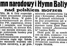 Hymn narodowy i Hymn Bałtyku nad polskiem morzem // Dzień Dobry. - 1935, nr 178, s. 1