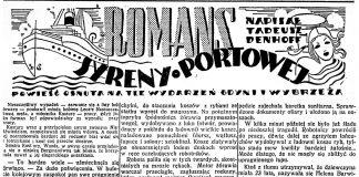Romans syreny portowej / Tadeusz Denhoff // Dzień Dobry. - 1938, nr 25, s. 4. - Il.