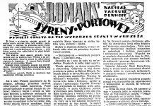 Romans syreny portowej / Tadeusz Denhoff // Dzień Dobry. - 1938, nr 33, s. 11. - Il.