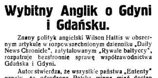 Wybitny Anglik o Gdyni i Gdańsku // Gazeta Kartuska. - 1930, nr 176, s. 3