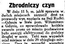 Zbrodniczy czyn // Gazeta Gdańska. - 1929, nr 159, s. 4