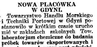 Nowa placówka w Gdyni // Gazeta Gdańska. - 1929, nr 159, s. 4