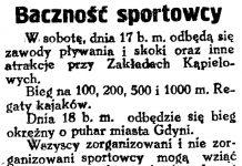Baczność sportowcy // Gazeta Gdańska. - 1929, nr 159, s. 4