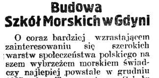 Budowa Szkół Morskich w Gdyni // Gazeta Gdańska. - 1929, nr 159, s. 5