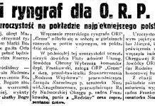 """Rycerski ryngraf dla O. R. P. """"Grom"""". Podniosła uroczystość na pokładzie najpiękniejszego polskiego okrętu // Gazeta Gdańska. - 1937, nr 247, s. 1"""