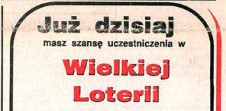 """Już dzisiaj masz szansę uczestniczenia w Wielkiej Loterii """"Kuriera Gdyńskiego"""" ... // Kurier Gdyński. - 1992, nr 1, s. 1"""