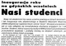 Nasi studenci. Inauguracja roku na gdyńskich uczelniach // Kurier Gdyński. - 1992, nr 1, s. 2