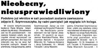Nieobecny, nieusprawiedliwiony / Małgorzata Sokołowska // Kurier Gdyński. - 1992, nr 1, s. 2